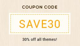 30% discount WordPress Themes