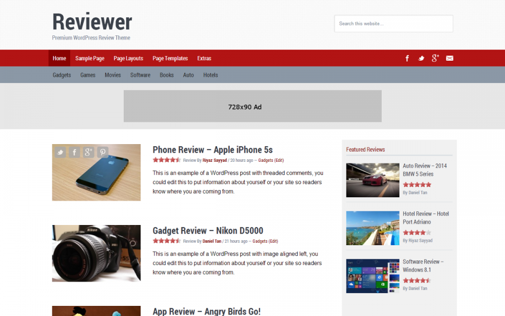 Reviewer Theme by SomoThemes